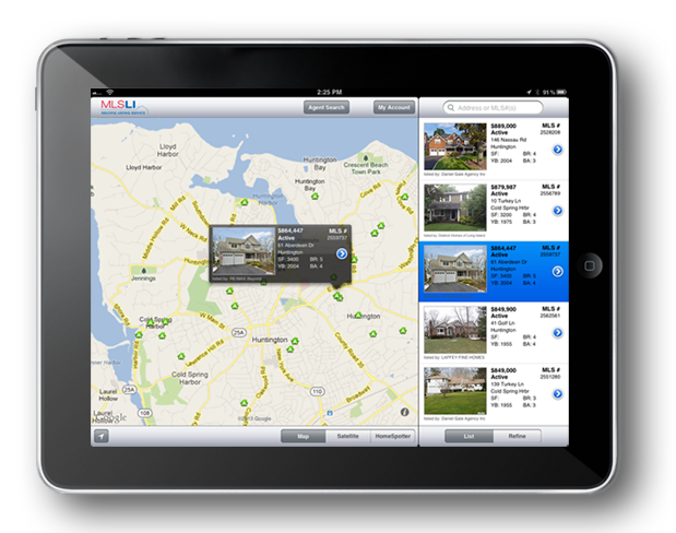 ipad with Search and Map