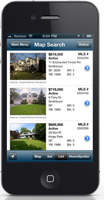 iphone with listings